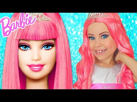 Xxx Mp4 Barbie Doll Kids Makeup Alisa Pretend Play How GIANT DOLL DRESS UP In Princess Dress Makeup Toys 3gp Sex