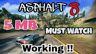 ASPHALT 8 highly compressed 5mb with (gameplay) in Hindi
