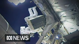 Spacewalking astronauts upgrade ISS cooling system