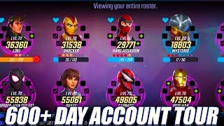 600+ Day Account Tour! - Marvel Strike Force
