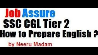 How to prepare English for ssc cgl Tier 2  : Score 190+