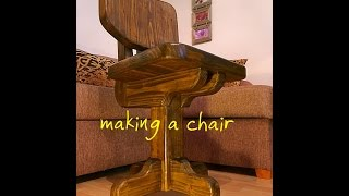 Making a wooden chair