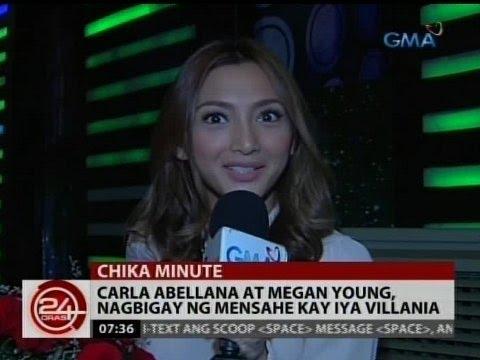24 Oras: Carla Abellana at Megan Young, nagbigay ng mensahe kay Iya Villania