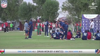 USA vs Oman - LIVE International Cricket from WCL3 in Oman
