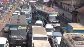 Incredible Traffic In Dhaka, Bangladesh In HD, 2014, Part 1