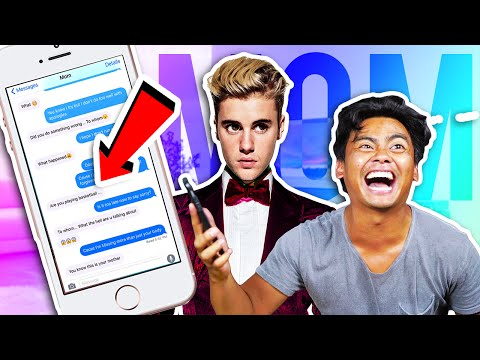 Pranking MOM with JUSTIN BIEBER'S SORRY Lyrics