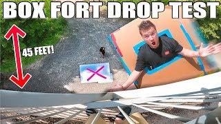 BOX FORT DROP TEST 45FT!