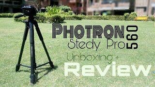Photron Stedy Pro 560 Unboxing & Review || Best Budget Tripod? || Startup Youtuber Kit #1