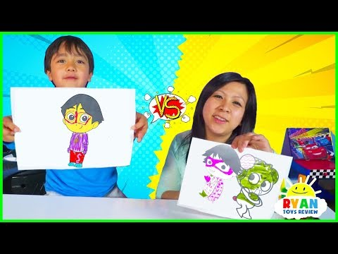 3 Marker Challenge with Ryan vs Mommy