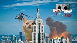 Catzilla - The Kaiju Kitty   Cardboard Horror #360video 360 VR cat video