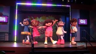 Dora the Explorer and Diego song and dance at Nick Hotel in Orlando