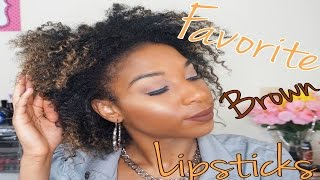 My Top 5 Brown Lip Products (Feat True Brown K)+Lip Swatches