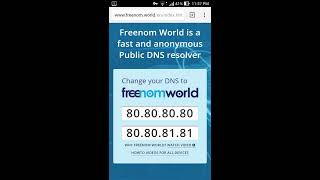 Freenom world DNS (Android)