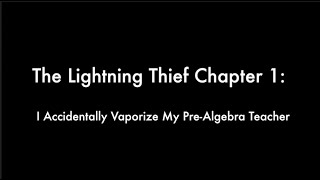 The Lightning Thief Audiobook Read Aloud Chapter 1