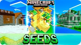 Minecraft PE 0.16.0 Seeds - TOP 10 BEST Starting Seeds - MCPE 0.16.0 Villages, Temples, Biomes