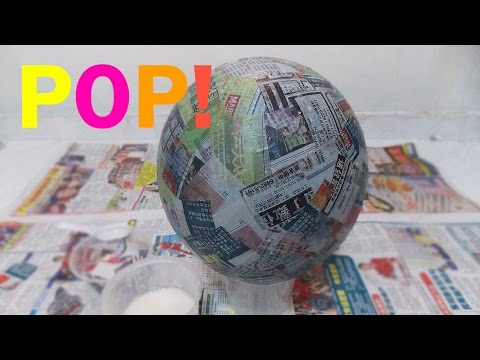 How to make a Pinata base bowl ball sphere Paper Mache Paste Cheap Simple and Easy
