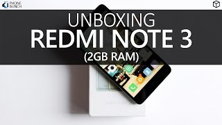 Xiaomi Redmi Note 3 (2GB RAM) India Unboxing