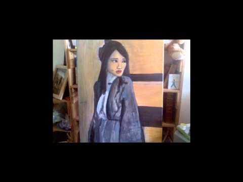 Painting of a geisha Hatsumomo