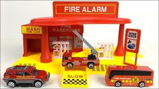 UNBOXING XAIO BAI CAI FIRE STATION SUPER SERVICE AREA WITH RESCUE VEHICLES FIRE TRUCKS & MORE