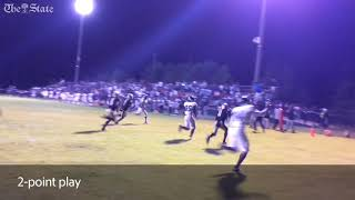 Watch Newberry's game-winning TD, 2-point play vs Fairfield Central