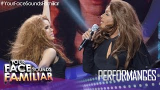 Your Face Sounds Familiar: KZ Tandingan and Nyoy Volante as Shakira and Beyonce