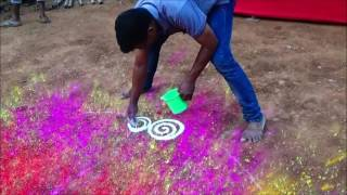 Diwali Special Innovative Rangoli by Satish Thavi & Nilesh Gorule