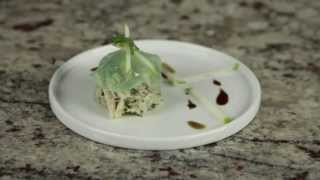 Agar Agar  by Cuisine-Tech | Green Apple Gel and Crab Meat Salad