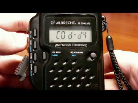 Обзор портатив� ой радиоста� ции Albrecht AE2990 AFS