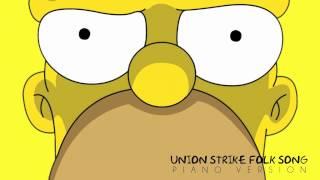 The Simpsons - Union Strike Folk Song | Piano Version