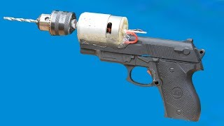 How to make a drill Machine by Using toy GUN