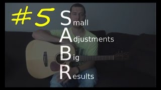 SABR# 5 - `The Quick Switch` - How to quickly tune your guitar to Drop D tuning without a tuner
