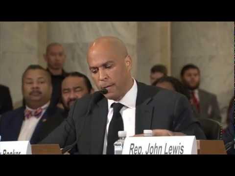 FULL Senator Cory Booker testifies against Senator Jeff Sessions