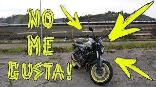 LO PEOR DE MI MOTO | YAMAHA MT07 / FZ07