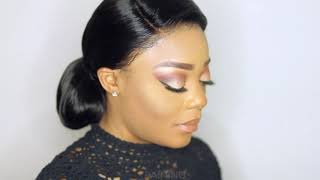 How to do a loose chignon/bun using a lace frontal wig