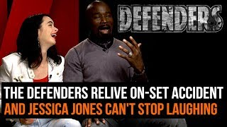 The Defenders relive on-set accident (and Jessica Jones can