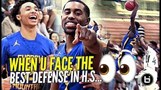 When Your Squad Plays Against THE BEST DEFENSE In HS....AND They Got BOUNCE!! 👀👀 JUST NOT FAIR!