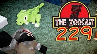 Minecraft Jurassic World (Jurassic Park) ZooCast - #229 Hatching Velociraptors!