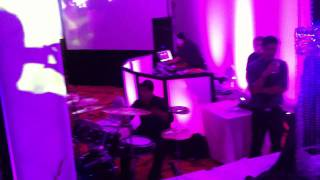 IndoRaja Entertainment DJ Indo, Punit on Live Drumset and Dholi Raja Indian Wedding