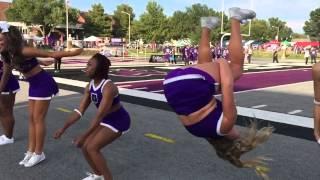 Cool iPhone 6 slow mo back flip (slow motion) UCA Bears football game sideline