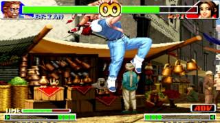 The King of Fighters 98 Brian Battler, a little bit combo practise on PC keyboard (just fun play)