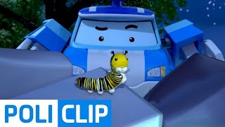 Poli is afraid of bugs | Robocar Poli Clips