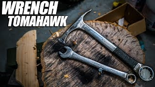 Forging a Tomahawk from a Wrench #HuskyHawk