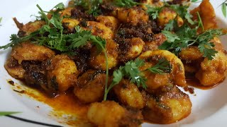 Jhinga Fry/Shrimps Fry/Delicious Seafood Recipe/Konkani Cuisine
