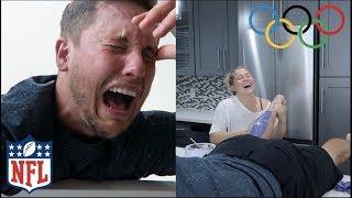 *PAINFUL* WAXING MY HUSBANDS GROSS MAN LEGS!! BOYFRIEND TAG| Shawn Johnson
