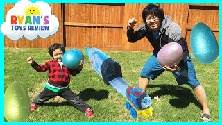 HUGE Easter Eggs Hunt Surprise Toys Challenge Thomas and Friends Disney Cars McQueen Minions Marvel