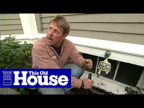 How to Install In Ground Sprinklers This Old House