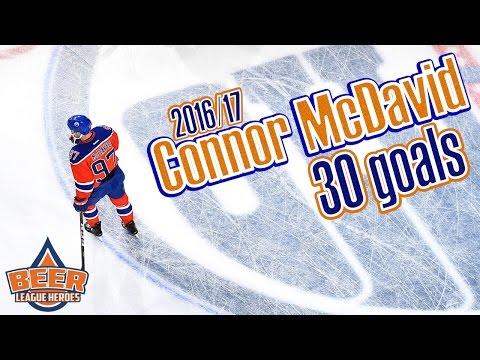 Every Connor McDavid Goal 2016 17 Regular Season 30 Goals Beer League Heroes