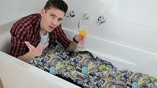 Taking A Bath In Pokemon Cards | 200,000 Subscribers!