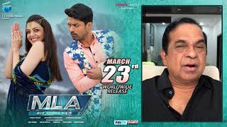Brahmanandam Wishing all the best to the entire #MLA Team