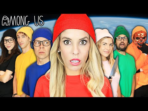 Giant AMONG US but In REAL LIFE Game Imposter IQ 900 Challenge Rebecca Zamolo
